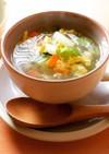 白菜とセロリの卵スープ