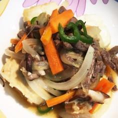 ハンパ野菜で肉豆腐