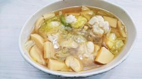 春キャベツとタケノコの食べるスープ