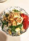 新玉ねぎと水菜の簡単ささみサラダ