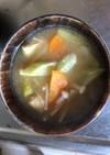 アスパラとブロッコリーのお味噌汁