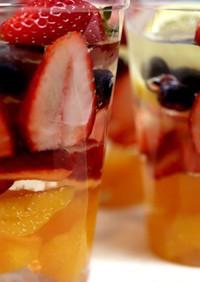 つるんと美味しいフルーツゼリー