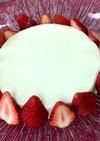ミキサーで作るレアチーズケーキ