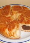 フライパンでパン クッキークリームパン