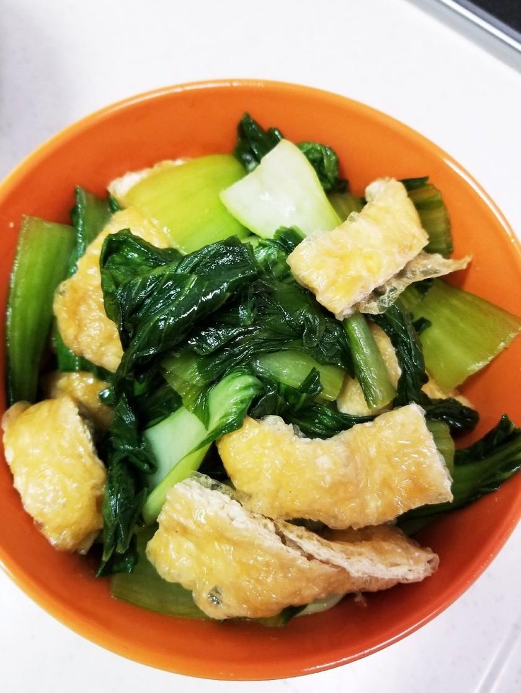 チンゲン菜と油揚げの煮浸し
