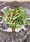 即完成!水菜とバリバリ麺ごまドレサラダ♪