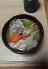 福島の芋煮。翌日はけんちんうどんに!