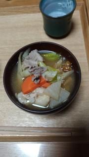 福島の芋煮。翌日はけんちんうどんに!の写真