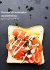 サーモンエッグのオープントースト