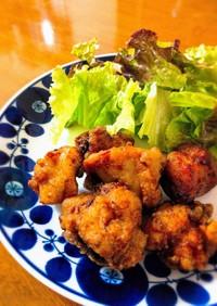 五香粉(ウーシャンフェン)で鶏の唐揚げ
