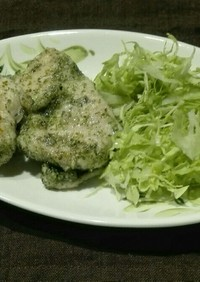 減塩 鶏肉の磯部焼き