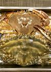 マルガニとワタリガニの蒸し蟹