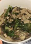 高野豆腐とちりめんと舞茸とレタスの山椒煮