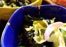 春キャベツとワカメと胡瓜の酢の物