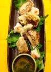 薬膳★しいたけの肉詰めの天ぷら