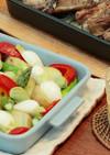 グリル野菜のレモン味噌ディップ添え