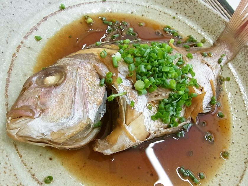 ねぎたっぷりまるごと真鯛の煮付け