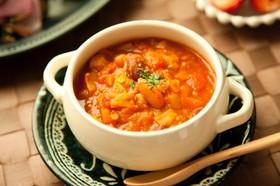 ひよこ豆と春キャベツの⁂トマトスープ