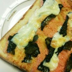 妊娠中たべた明太マヨ海苔チーズトースト