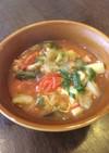 トマトと大葉たっぷり野菜の食べるスープ♪