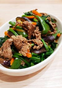 激旨♡牛肉と野菜のオイスターソース炒め