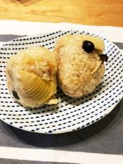 筍炊き込みご飯の写真
