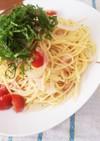 トマトと新玉ねぎの和風ツナパスタ