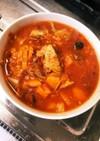 鯖の水煮缶とトマト缶の野菜スープ