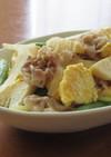 豚バラ肉と筍とふんわり卵の炒め物