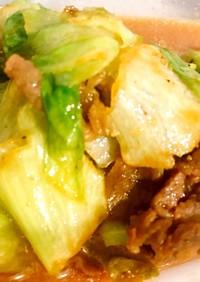 牛肉とレタスのスタミナ焼き