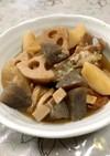 圧力鍋で手羽元と大根などの煮物