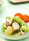 タコときゅうりとそら豆のマリネ⁂簡単副菜