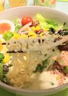 ビシソワーズ風 豆腐スープ冷やしラーメン