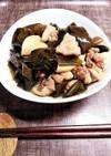 鶏肉と筍とわかめの炒め煮