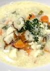 お野菜たっぷり味噌豆乳スープ