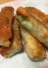 簡単 おつまみ 枝豆とチーズ春巻き