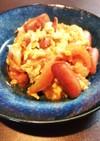 トマトと卵の炒めものウィンナー付き