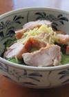 鶏もも肉ときゅうりの酢の物