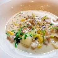 白菜と豚肉のミルクスープ