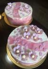 桜のムースケーキ