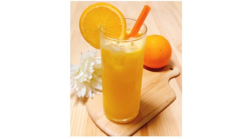 オレンジと柚子はちみつのソーダ。:ஐ♡