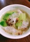 豚ひき肉とねぎで作るスープ餃子