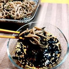 ラー油to海苔ゴマが決めてnoざる蕎麦