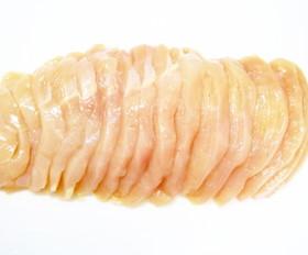 簡単で切りやすい!鶏むね肉のそぎ切り。