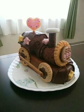 パウンドケーキでアンパンマンケーキ