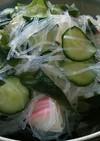 春雨と胡瓜とワカメの酢のもの♪
