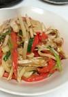 筍と豚肉の中華風味噌炒め、簡単