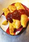 鶏ささみピカタのピリ辛ケチャップソース