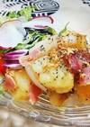 新じゃが芋と新玉葱でジャーマンポテト