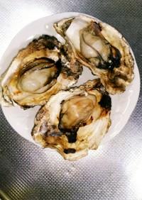 焼き牡蠣~グリルで♪殻2枚の牡蠣
